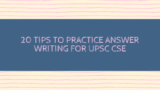 practice answer writing for ias exams