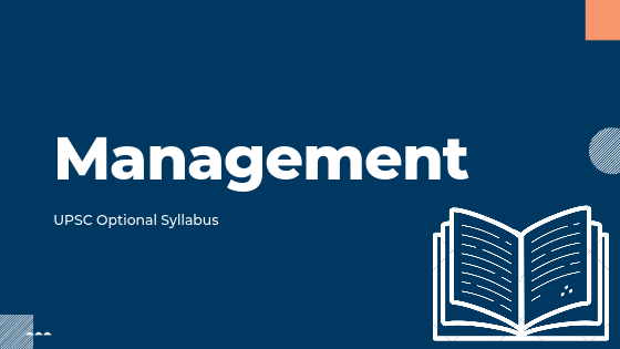Management Syllabus for upsc