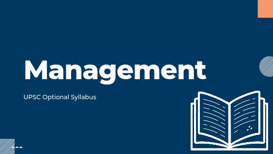 Management Syllabus for upsc