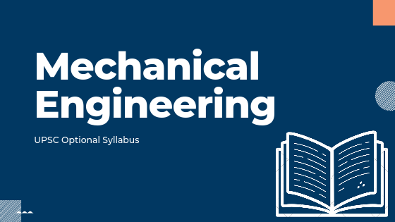 Mechanical Engineering syllabus for upsc