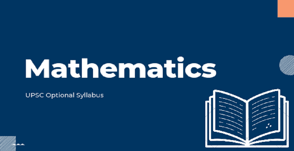 UPSC mathematics optional syllabus