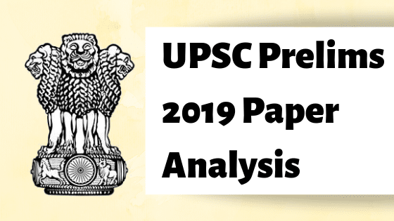 upsc prelims 2019 paper analysis